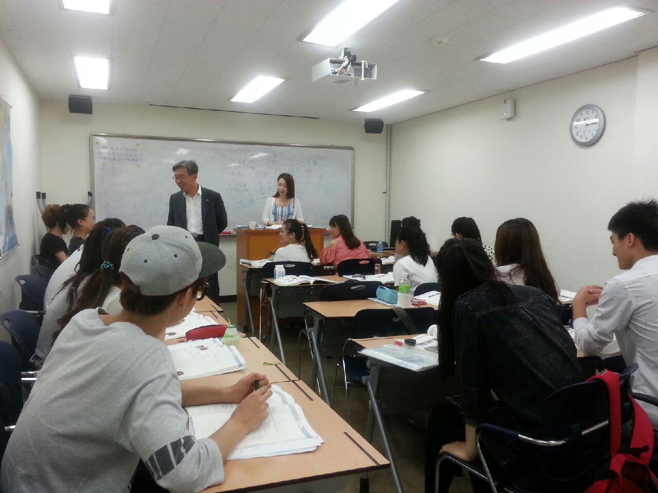 Đến thăm Trung tâm tiếng Hàn Đại học Chungang