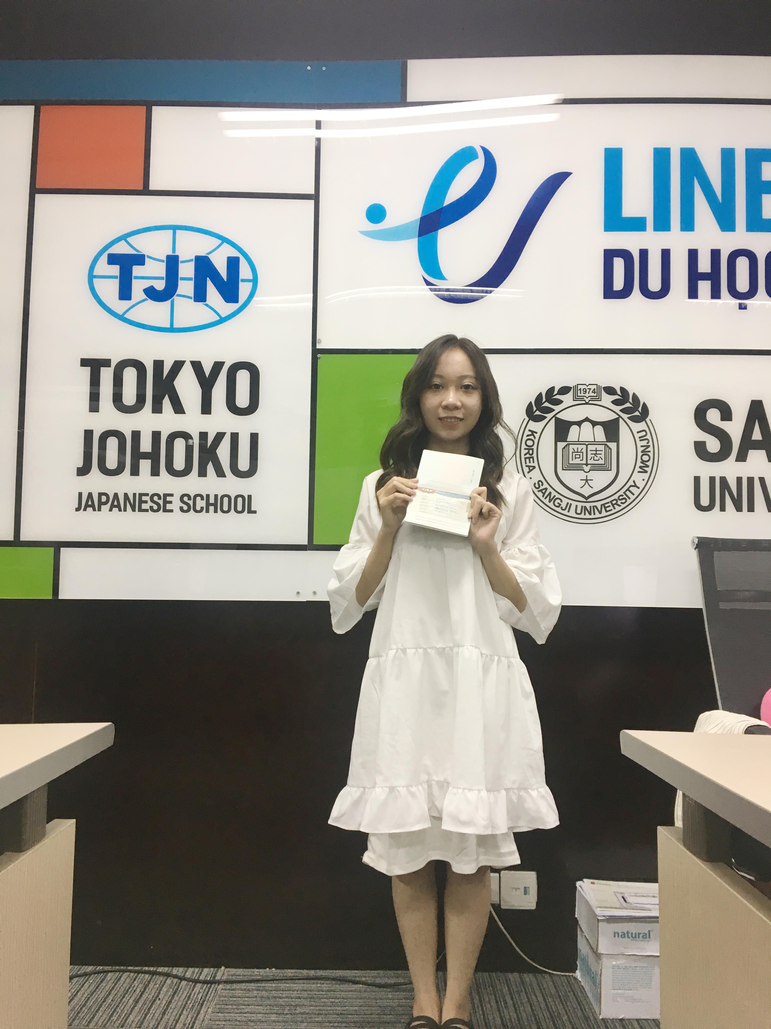 Chúc mừng học sinh Line nhận được Visa thẳng trường đại học Dongguk