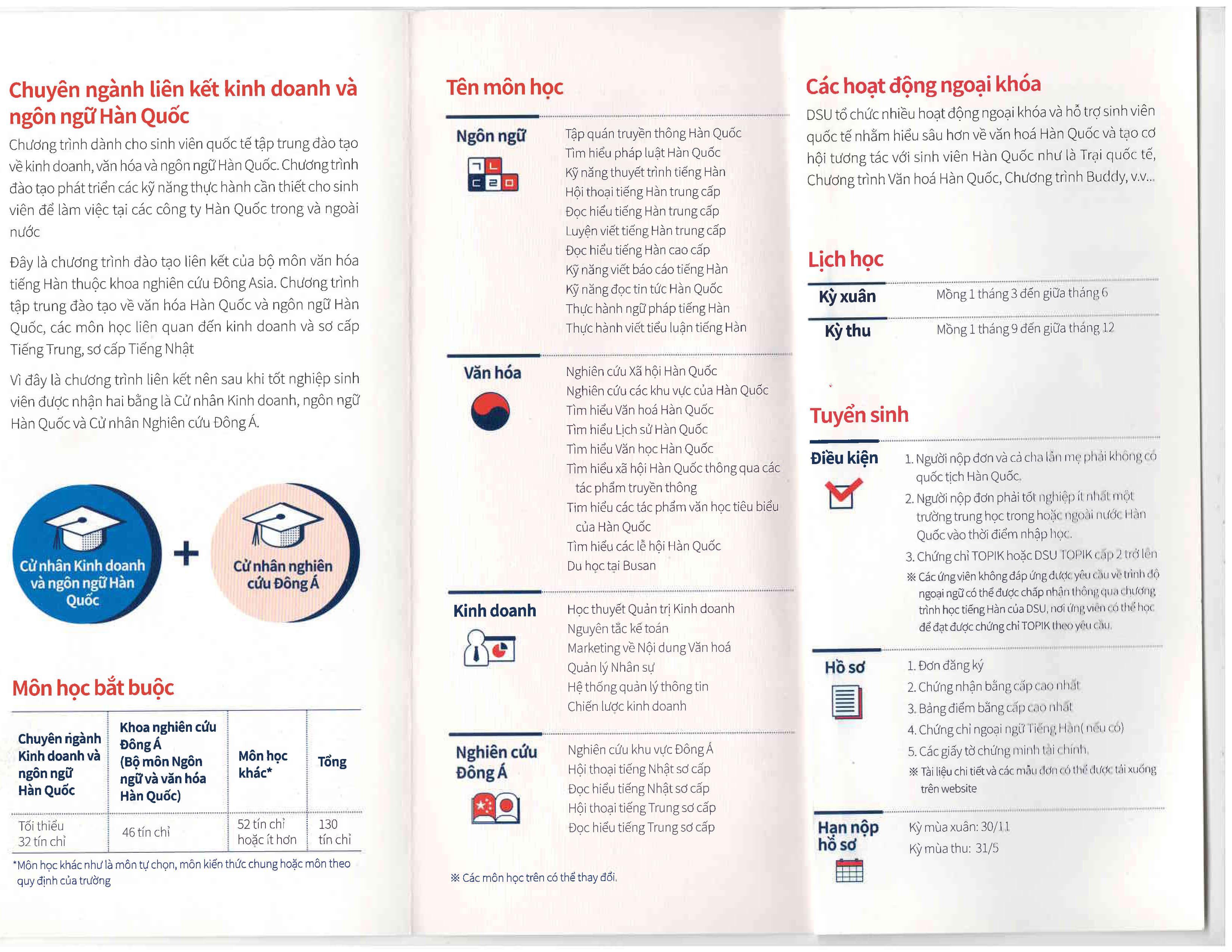 Đại học Dongseo – chuyên ngành liên kết kinh doanh và ngôn ngữ Hàn Quốc