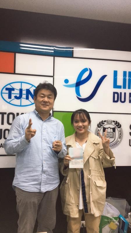 Chúc mừng học sinh của Line nhận visa tháng 12 trường Hongik