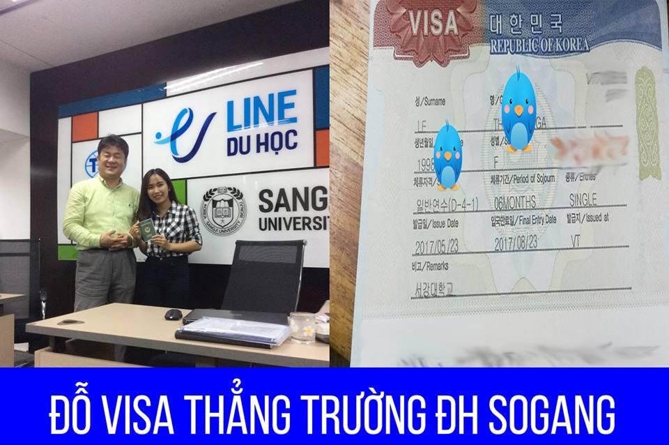 Chúc mừng bạn Lê Nga đã đỗ Visa thẳng trường Sogang