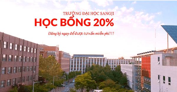 Đại học Sangji có học phí chỉ 58 triệu VNĐ/năm