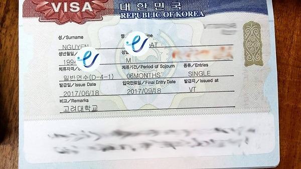 Chúc mừng bạn Đạt đỗ visa du học trường đại học Korea