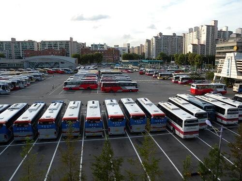 Xe Bus công cộng là phương tiện đi lại chủ yếu tại Hàn
